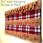 Plaid & Burlap Wall Hanging — DIY