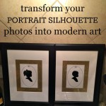 DIY modern, framed silhouette photos