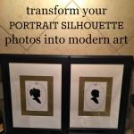 DIY modern, framed silhouette photos